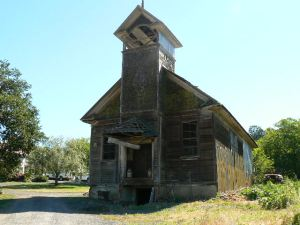 dilapidated old church