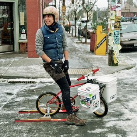 Portland Ice Bike, photo by Patrick Barber